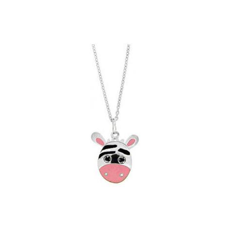 Praqia Dievčenské strieborný náhrdelník Zebra KO0978_MO040_40_RH (retiazka, prívesok)