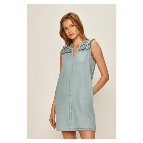 Pepe Jeans - Rifľové šaty Lura