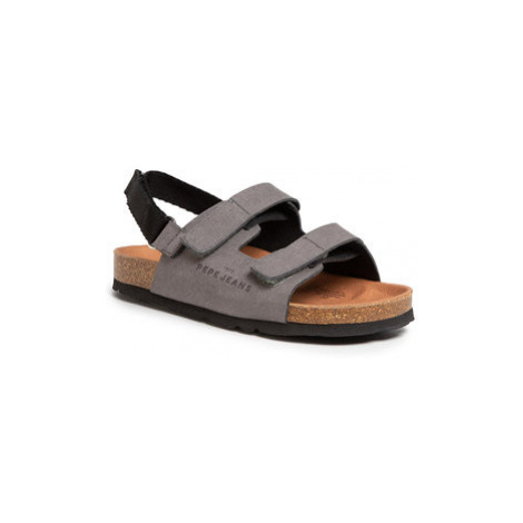 Pepe Jeans Sandále Bio Velcro Boy PBS90038 Sivá
