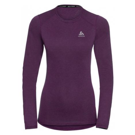 Odlo BL TOP CREW NECK L/S ACTIVE THERMIC fialová - Dámske funkčné tričko