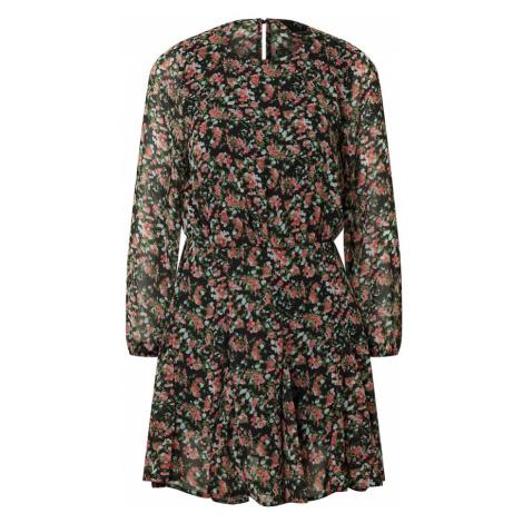 AX Paris Šaty 'Dress'  čierna / hnedá / ružová