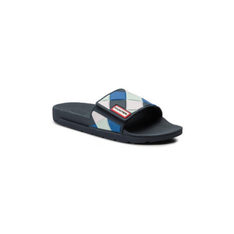 Hunter Šľapky Adjustable Slide Arrow Print WFD4029EVA Modrá