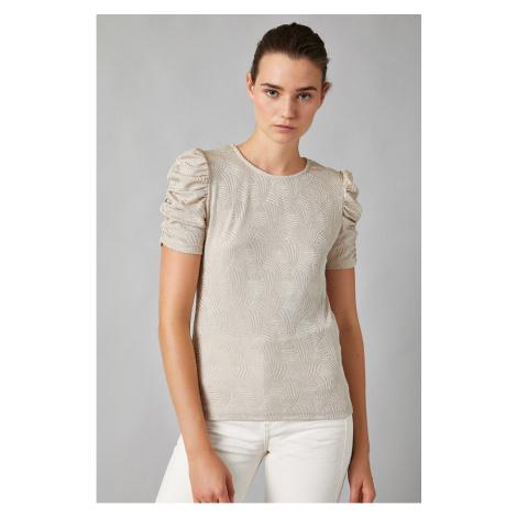 Koton Women's Shoulder Detail Blouse 1kak13589ek