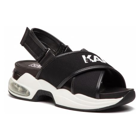 Sandále KARL LAGERFELD - KL61705  Black Knit Textile W/White