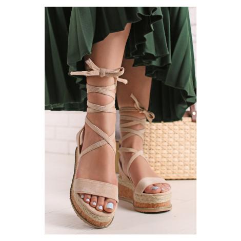 Béžové platformové sandále Gracia Bestelle