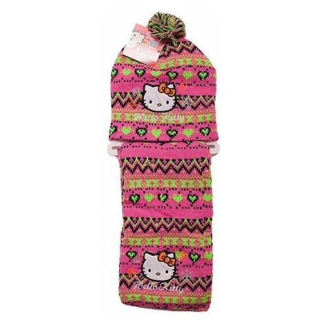 Hello Kitty zimná set čiapky a šály