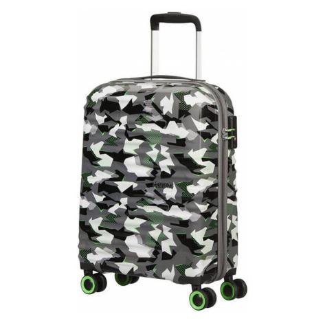American Tourister Kabínový cestovný kufor Wavetwister Print 33 l - CAMO/ACID GREEN