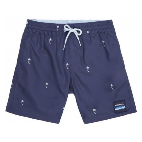 O'Neill PB MINI PALMS SHORTS tmavo modrá - Chlapčenské kúpacie šortky