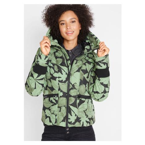 Zimná bunda, prešívaná, s potlačou bonprix