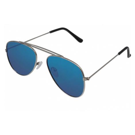 Sluneční brýle Scannell stříbrné obroučky modrá skla