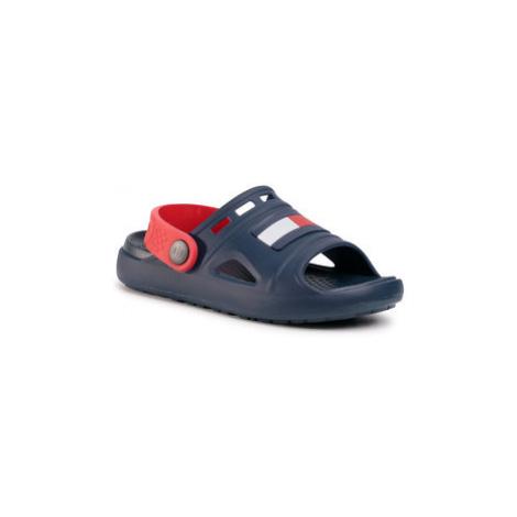 TOMMY HILFIGER Šľapky Comfy Sandal Blue T3X2-30744-0083 S Tmavomodrá