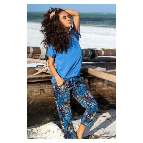Dámske pyžamo CANA 563 SM Tmavěmodrá-modrá