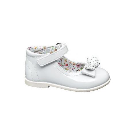 Biele dievčenské balerínky s remienkom Cupcake Couture
