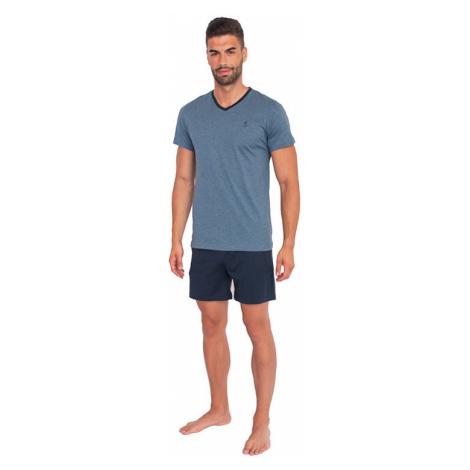Pánske pyžamo Jockey modré nadrozmer (500013 499)