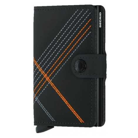 Secrid Miniwallet Stitch Linea Orange-One size čierne MSt-Linea-Orange-One size