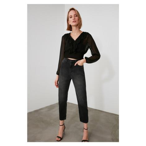 Trendyol Black High Waist Mom Jeans