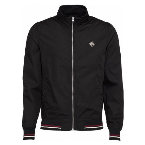 Schott NYC Prechodná bunda  čierna / biela / burgundská