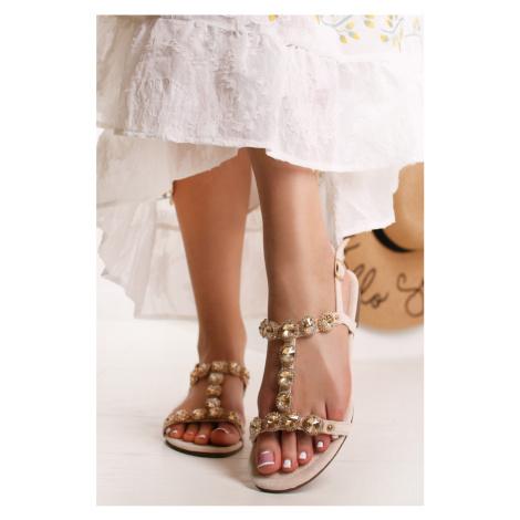 Béžové sandále Adaire Bestelle