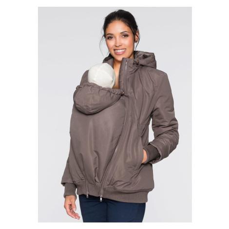 Materský kabát na zimu s podšitým vakom na bábätko