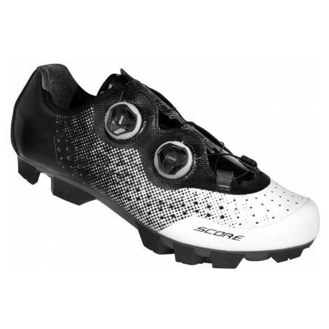 Cyklistické tretry Force MTB SCORE bielo-čierne