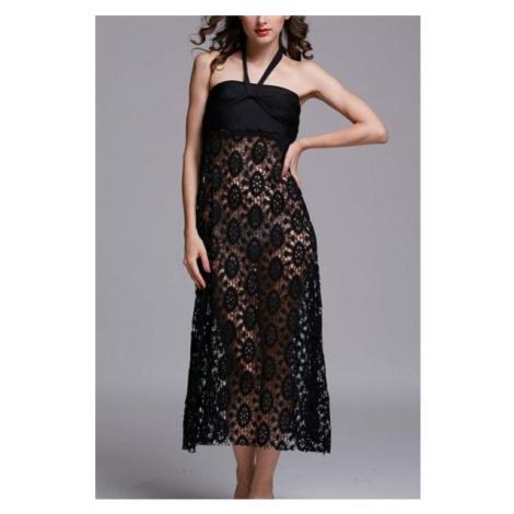 Plážové šaty/sukňa - Black