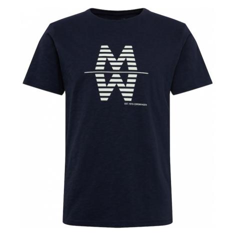 Matinique Tričko 'MAslubon Slub Jersey'  biela / námornícka modrá