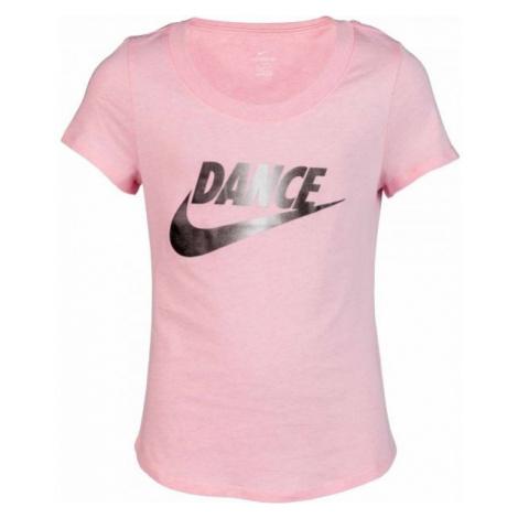 Nike NSW TEE SCOOP DANCE SWOOSH ružová - Dievčenské tričko