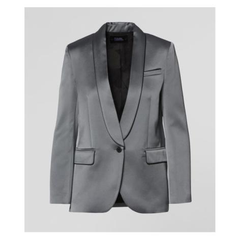Sako Karl Lagerfeld Satin Blazer W/ Piping