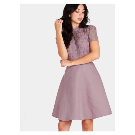 Staroružové šaty s čipkou Little Mistress