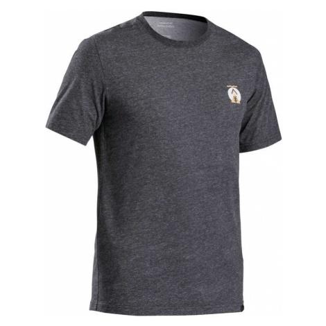 QUECHUA Pánske Tričko Nh500 čierne