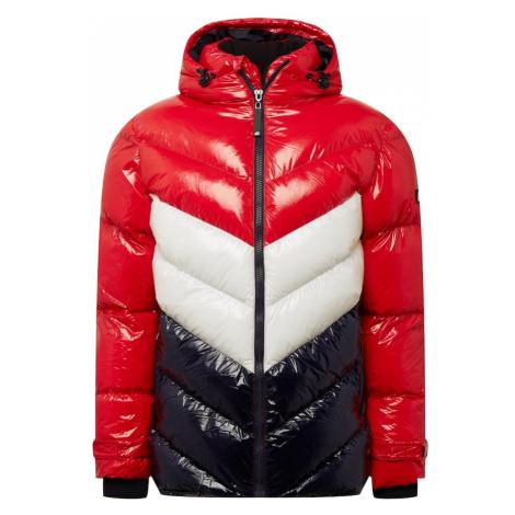 River Island Zimná bunda  biela / červená / námornícka modrá
