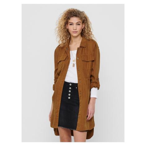 Hnedý ľahký kabát ONLY Kenya
