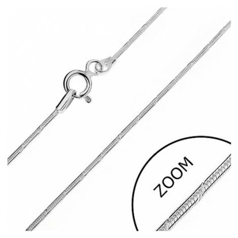 Retiazka zo striebra 925 - zaoblená so zárezmi, 1 mm