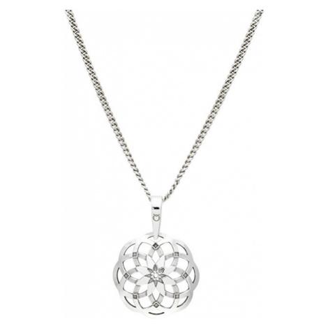 Praqia Štýlový strieborný náhrdelník Mandala KO1415_CU035_49_RH (retiazka, prívesok)