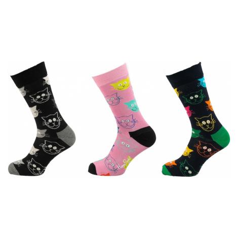Happy Socks Ponožky 'Cat'  zmiešané farby