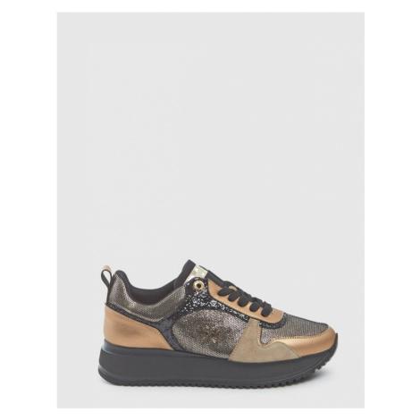 Tenisky La Martina Woman Shoes Satin - Čierna
