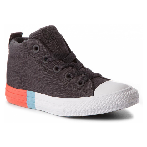 Tramky CONVERSE - Ctas Street Mid 659975C Almost Black/Bright Poppy