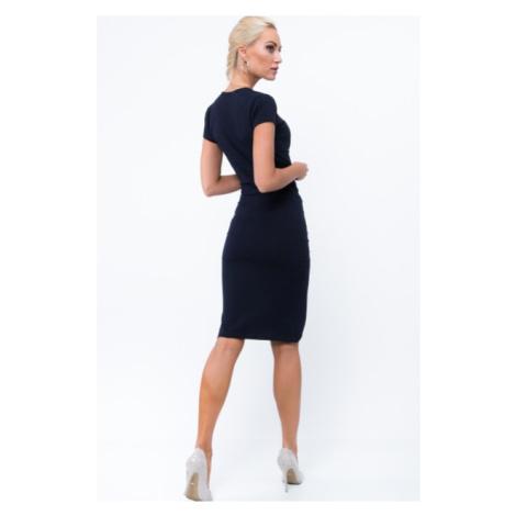 Nazberkané, asymetrické šaty, navy FASARDI