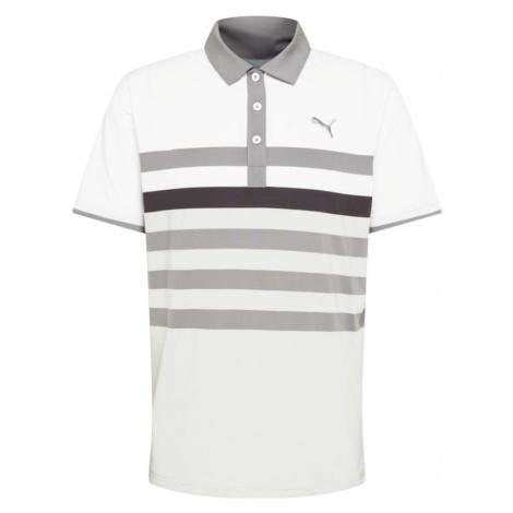 PUMA Funkčné tričko 'One Way'  svetlosivá / sivá / biela / čierna
