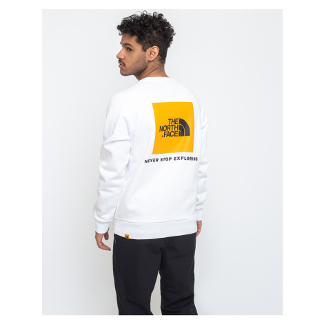 The North Face Raglan Redbox Crew Tnf White/Flame Orange