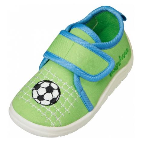 PLAYSHOES Papuče 'Fußball'  zelená / modrá / biela / čierna