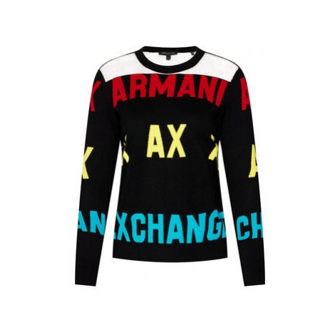 Armani Exchange Sveter 6HYM1F YMD4Z 1200 Čierna Regular Fit