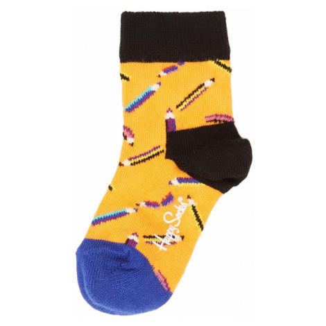 Happy Socks Pencil Print Socks Orange