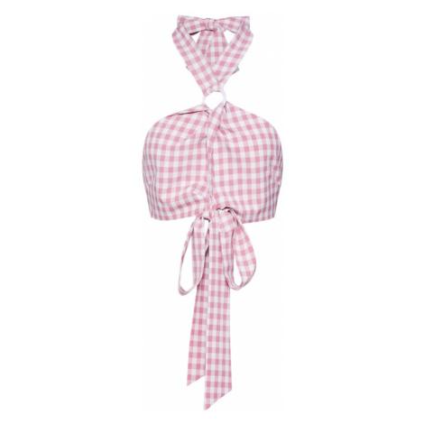 Fashion Union Top 'KIKI'  biela / ružová