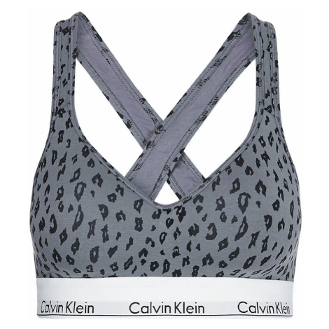 CALVIN KLEIN - Modern cotton bralette lift animal - special limited edition