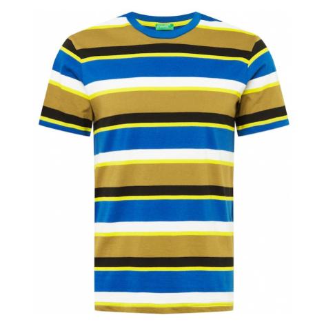 UNITED COLORS OF BENETTON Tričko  modrá / citrónová / biela / žltá / čierna