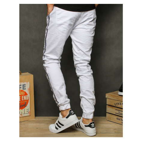 Men's white joggers UX2609 DStreet