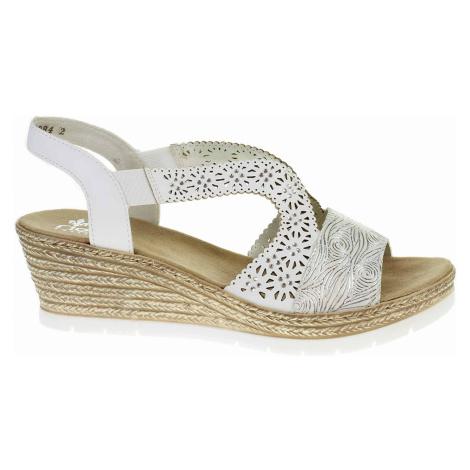Dámské sandály Rieker 61916-80 weiss 61916-80