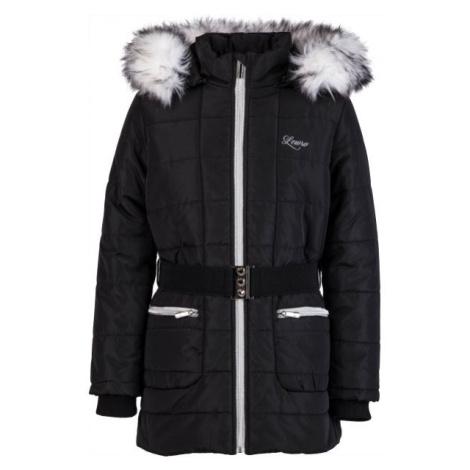 Lewro NATALIE čierna - Dievčenský zimný kabát