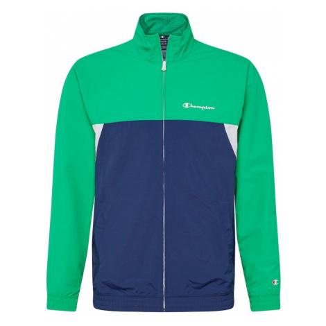 Champion Authentic Athletic Apparel Tréningová bunda  zelená / námornícka modrá / biela